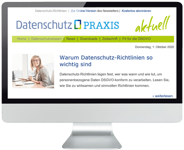 Newsletter Datenschutz PRAXIS abonnieren