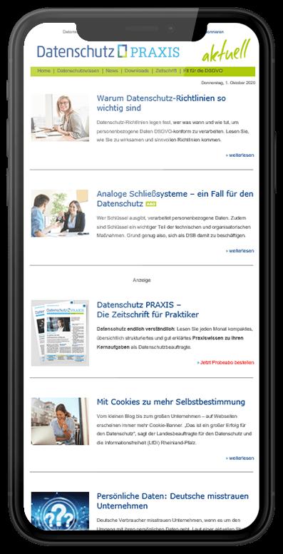 Newsletter Datenschutz PRAXIS aktuell