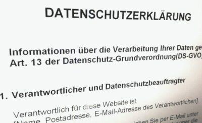 Mustertext für Datenschutzhinweise kleiner Websites veröffentlicht